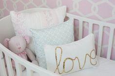 A Pink, White & Gold Dessert-Inspired Nursery