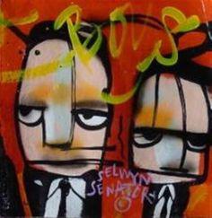 Kunstwerk: Ten Gangsters VI & VII van kunstenaar Selwyn Senatori Gangsters, Vans, Retro, Modern, Fictional Characters, Color, Art, Trendy Tree, Van