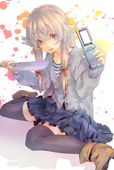 Let's spread Mirai Nikki to all over the world with us to get an anime stuff you want free. Manga Girl, Manga Anime, Anime Art, Anime Girls, Asuna, Yuno Mirai Nikki, Mirai Nikki Future Diary, Yandere Girl, Pikachu