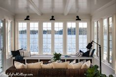 Lake House Sunroom - it's done! - The Lilypad Cottage Sunroom perfection!