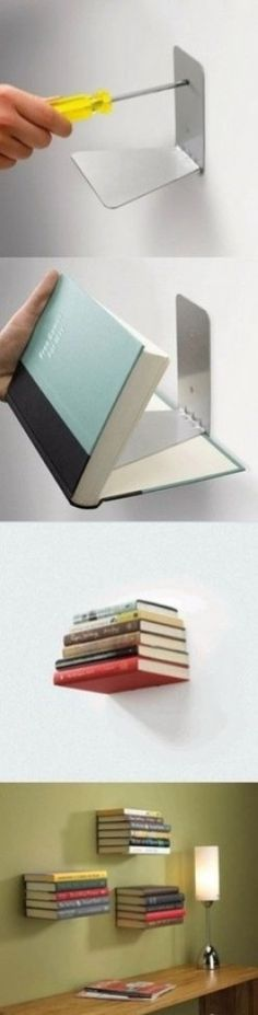 looks like a great way to use old books to decorate!