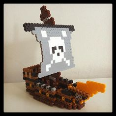 3D Perler Pirate Ship by geeky.mermaid