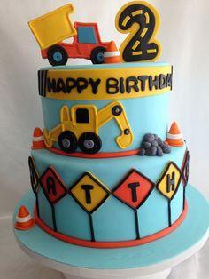 Construction Birthday cake