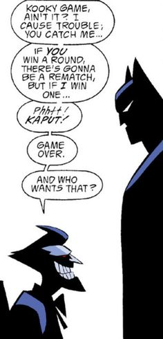 Batman Vs Joker - the eternal struggle