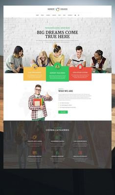 RainbowColleges – our latest LMS WordPress theme that is meant to become a website for any educational establishment. It will serve well as a website for Website Design Layout, Website Design Inspiration, Layout Inspiration, Web Design Tutorials, Web Design Trends, Wordpress Theme, Web Design School, Web Design Black, College Website