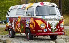 1960s Vw Hippie Van by Michael Wheatley
