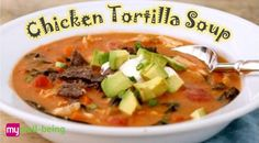 Easy and #healthy #recipe for Chicken Tortilla Soup