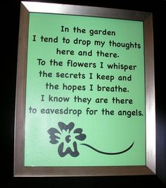 Great gardening Quote Great gift for your mother or by nlcorder