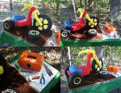 Birthday Cakes - Big wheel cake. This cake is life size. I had so much fun making this cake.