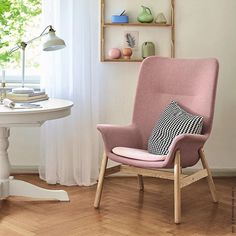 Ikea Must Haves, Home Interior, Master Bedroom, Accent Chairs, Living Spaces, Armchair, Shabby Chic, New Homes, Sofa