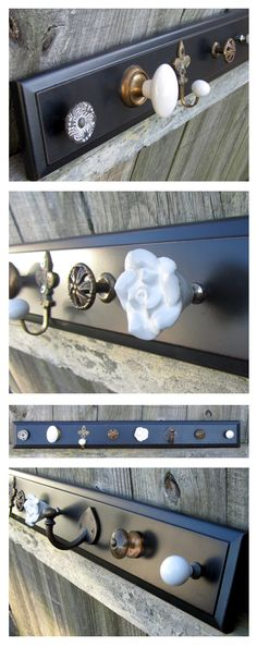 Knob and Hook coat rack, so cool!