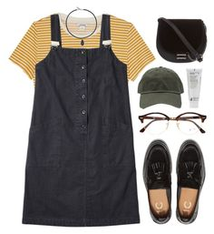 """Untitled #695"" by soym ❤ liked on Polyvore featuring Monki, Korres, Vanessa Mooney, Skinnydip and Ray-Ban"