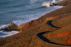The Pacific Coast Road in Marin County and the Golden Gate Recreation Area in California.
