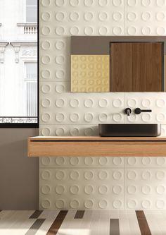 BOLD | WHITE - Ceramic tiles from Marca Corona | Architonic White Wall Tiles, Yellow Tile, Toronto, Italian Tiles, Bohemian Bedroom Decor, Tile Design, Small Bathroom, Family Bathroom, White Ceramics