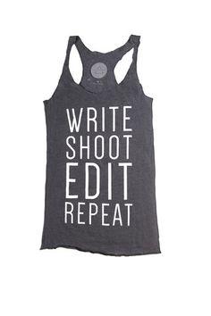 NEW! Women's Tank Top - Write, Shoot, Edit, Repeat - Triune Store