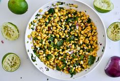 chipotle style corn salsa---Made with Whole Foods frozen organic sweet corn (don't use walmart it isn't near the same quality).  Followed the recipe exactly except the bag of corn was a little larger than 12 oz.  Turned out really well..definitely make again!