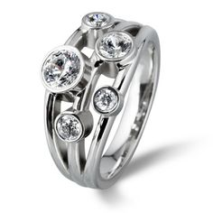 Boodles Waterfall Raindance Inspired Rings & Tiffany Bubble Ring - Leicester Jewellers: Lanes Fine Jewellery on Loseby Lane