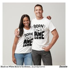 Black on White Born to be Awesome Lettering T-Shirt Love My Best Friend, Love My Job, Best Friend Hoodies, Friends Shirts, Logo Infinity, Infinity War, Marvel Logo, Happy Year, Closet Staples