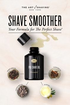 Pre-Shave Oil is the first step in The Art of Shaving. It softens the beard and prepares the skin for a close and comfortable shave without leaving an oily residue. It is formulated with a unique blend of botanical ingredients and essential oils. Shaving Oil, Shaving Cream, Beard Grooming, Men's Grooming, Diy Beard Oil, Black Pepper Essential Oil, The Art Of Shaving, Pre Shave, Beard Balm