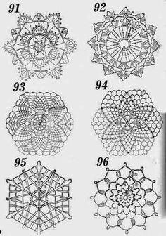 Schemi gratis da realizzare a Filet Punto Croce Maglia Uncinetto e Ricamo Crochet Diagram, Crochet Chart, Crochet Motif, Crochet Flowers, Crochet Stitches, Crochet Patterns, Crochet Snowflake Pattern, Crochet Snowflakes, Crochet Circles