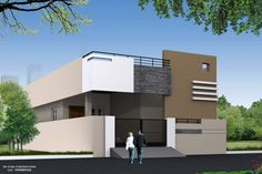inspirations building elevation designs for single single floor elevation s house plan new single floor house plans in tamilnadu top latest top single floor Single Floor House Design, Duplex House Design, Duplex House Plans, Modern House Plans, Modern House Design, House Floor Plans, Independent House, Building Elevation, House Elevation