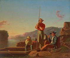The Wood-Boat Artist: George Caleb Bingham (American, Augusta County, Virginia 1811–1879 Kansas City, Missouri) Date: 1850 Culture: American Medium: Oil on canvas Dimensions: 25 1/8 × 30 in. (63.8 × 76.2 cm) Framed: 31 7/8 × 36 7/8 × 3 3/4 in. (81 × 93.7 × 9.5 cm) Classification: Paintings Credit Line: Saint Louis Art Museum