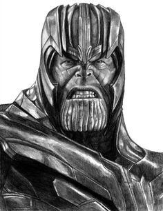 Thanos (Avengers - Endgame) by Thanos Marvel, Marvel Art, Marvel Avengers, Pencil Drawing Images, Realistic Pencil Drawings, Art Drawings Sketches, Comic Drawing, Marvel Tattoos, Iron Man Drawing