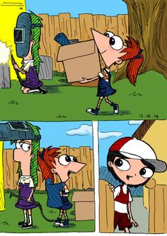 Gender bent PnF- Phineas and Ferb are creepy, but Issabella is adorable Disney Xd, Disney Fan Art, Cute Disney, Disney And Dreamworks, Disney Cartoons, Disney Movies, Disney Pixar, Disney Characters, Disney Anime Style