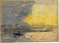 Seaside, Port of Honfleur, ca. 1860. pastel by Eugène Louis Boudin.