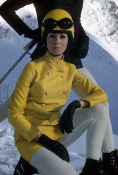 Model wearing skiing gear, Avoriaz, France. Photo by Ernst Haas for Sports Illustrated, 1967.