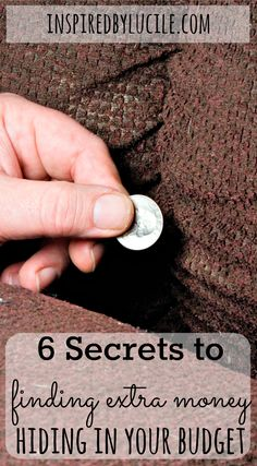 It was only after writing out a budget and telling my money where to go, did I learn 6 Secrets to Finding Extra Money Hiding in your Budget!