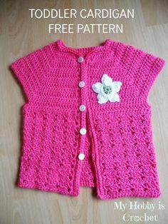 Chorrilho de ideias: Casaco verão menina cor de rosa em crochet