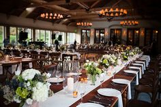 Brides: One Couple's Classic Golf Club Wedding with a Rustic Twist