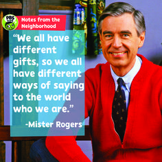 Fred Rogers dedicated his life to understanding childhood. He took that knowledge to the medium of television with his groundbreaking PBS series, Mister Rogers'… Fred Rogers, Mr Rodgers, Mr Rogers Quote, Wisdom Quotes, Life Quotes, Tv Quotes, Kids Notes, Pbs Kids, The Way You Are