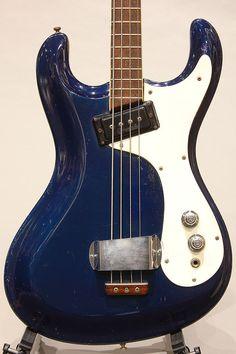 "1965 Vintage Mosrite The Ventures Bass ""Original Ink Blue"" 1965 Bass w/OHSC | eBay"