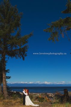Amazing wedding image shot along the BC pacific ocean in Campbell River | Shelter Point Distillery | Image by www.lovetreephotography.ca Discovery Island, Victoria Wedding, Island Weddings, Sunshine Coast, Vancouver Island, Wedding Images, Pacific Ocean, Distillery, West Coast