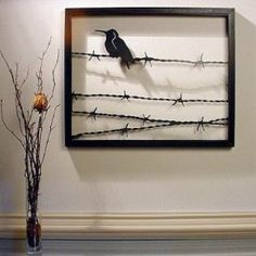 Bird on a Wire' Steel Wall Art Sculpture - Betterimprovement.