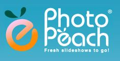 PhotoPeach image sharing web app for educators, free and paid accounts, for creating animated photo slideshows. photopeach.com/