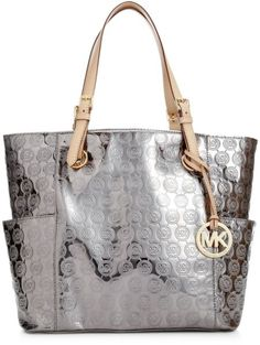 f483f637fed1 Michael by Michael Kors Signature Patent East West Tote