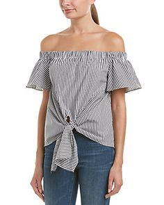 DO+BE Tie-Front Cold-Shoulder Top
