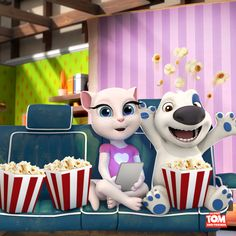 Talking Hank and I are having movie marathon!!! Not my usual Monday for sure! #moviemarathon xo, Talking Angela #TalkingAngela #MyTalkingAngela #LittleKitties #TalkingHank #fun #friends #cute #happy #movie #movienight #marathon #popcorn