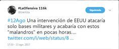 #13Ago Opinan los foristas sobre posible intervención de los #EEUU en #Venezuela - http://www.notiexpresscolor.com/2017/08/13/13ago-opinan-los-foristas-sobre-posible-intervencion-de-los-eeuu-en-venezuela/