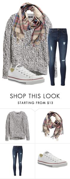 """Untitled #14"" by katielroberts on Polyvore featuring H&M, Pieces, Hudson and Converse"