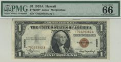 This will likely be one of the most closely followed lots in today's auction. All emergency issue stars are extremely popular. Any advanced set of small size notes needs a high quality WWII issue star. The opportunity to acquire a Hawaii $1 replacement in such a high grade may not occur again for a couple of years. And odds are the opening bid won't be as attractive as just $2,500.