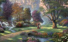 Beautiful Jesus Backgrounds | Free Jesus Christ Walking In Garden, computer desktop wallpapers ...