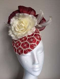A personal favourite from my Etsy shop (null) Pillbox Hat, Hat Patterns, Summer Hats, Fascinators, Headgear, Headpiece, My Etsy Shop, Hat, Headpieces
