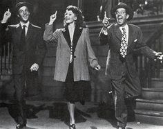 Gene Kelly, Rita Hayworth and Phil Silvers in 'Cover Girl' (1944).