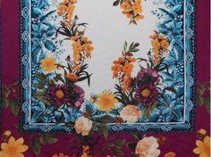 Viscose Clidélia Floral Squared