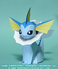This Pokemon Papercraft Is Vaporeon A Water Type Based On The Anime Game Paper Model Was Created By Tenpepakura