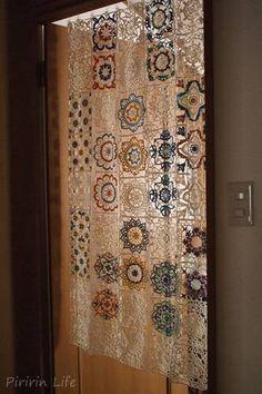 トルコタイル風レース暖簾(のれん) - ぴりりん生活